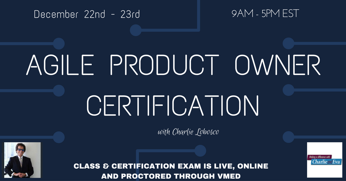 Agile Product Owner Certification Training Charlie And Eva
